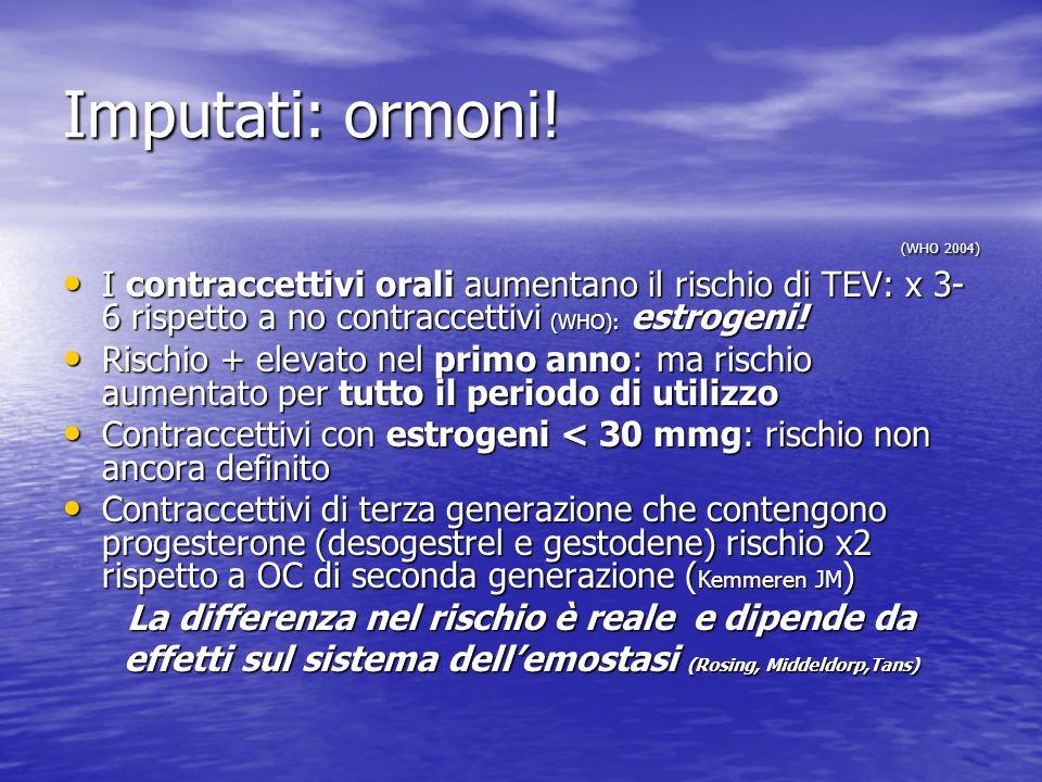Imputati: ormoni! (WHO 2004)