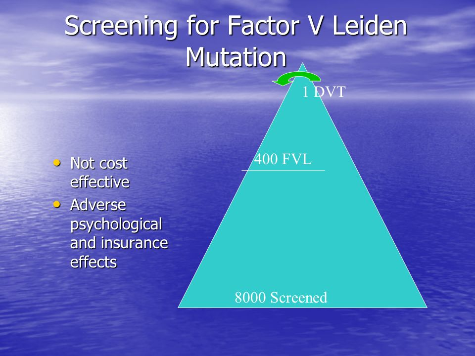 Screening for Factor V Leiden Mutation