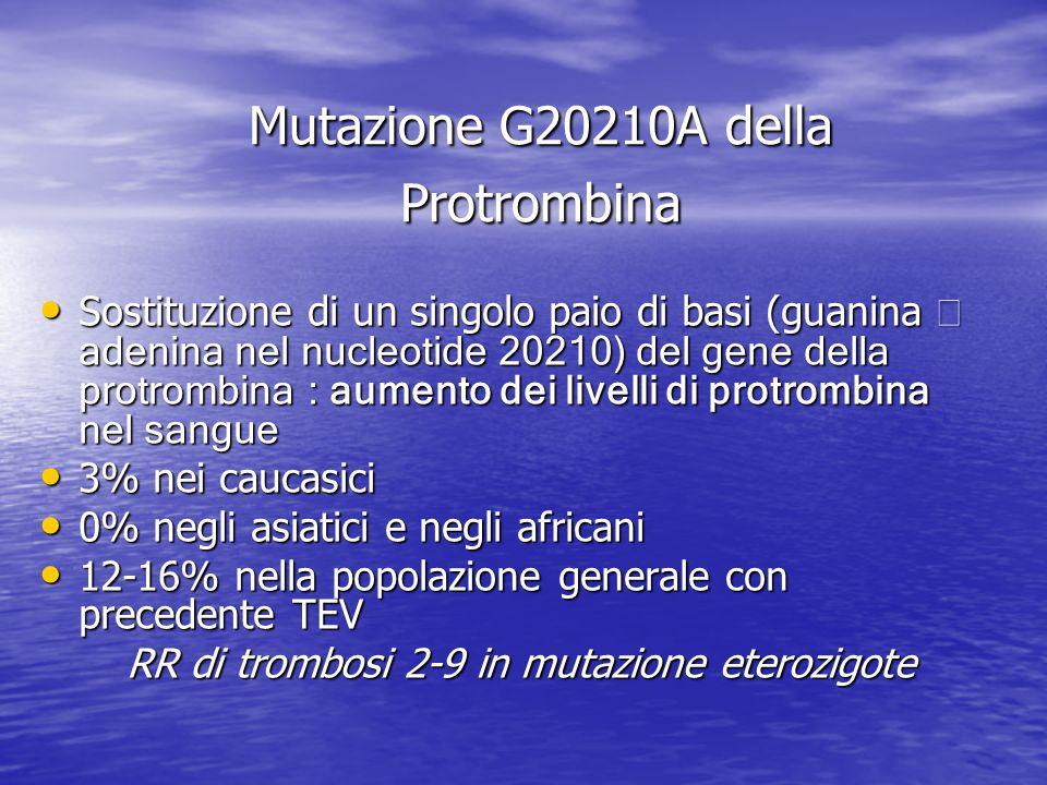 Mutazione G20210A della Protrombina