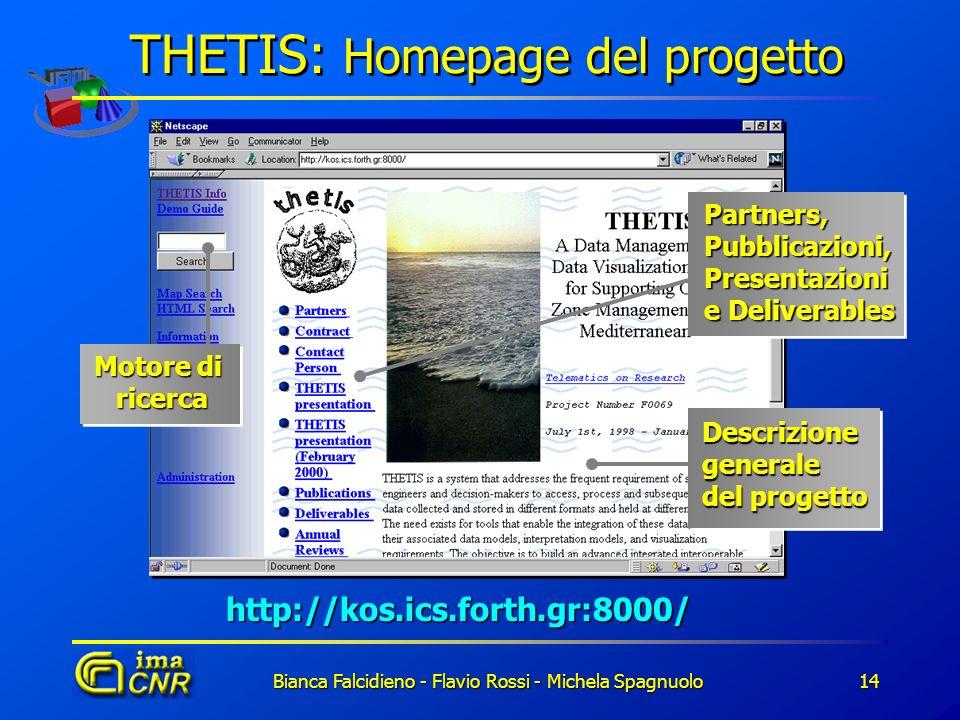 THETIS: Homepage del progetto
