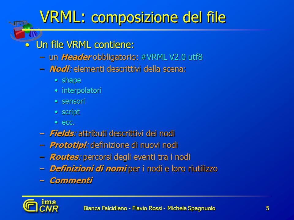 VRML: composizione del file