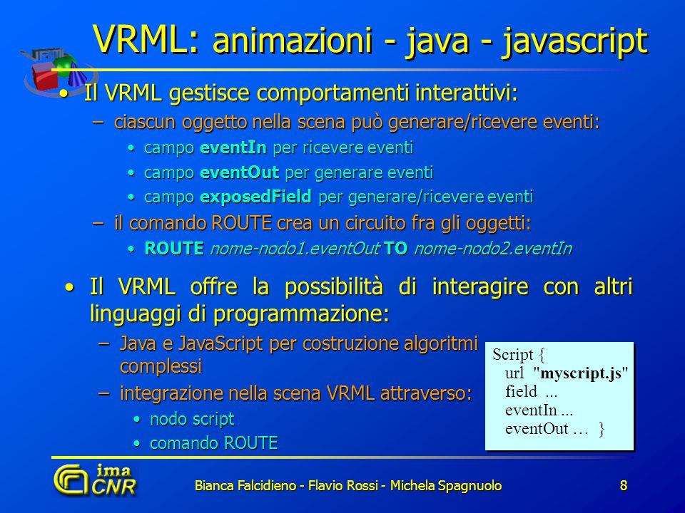 VRML: animazioni - java - javascript
