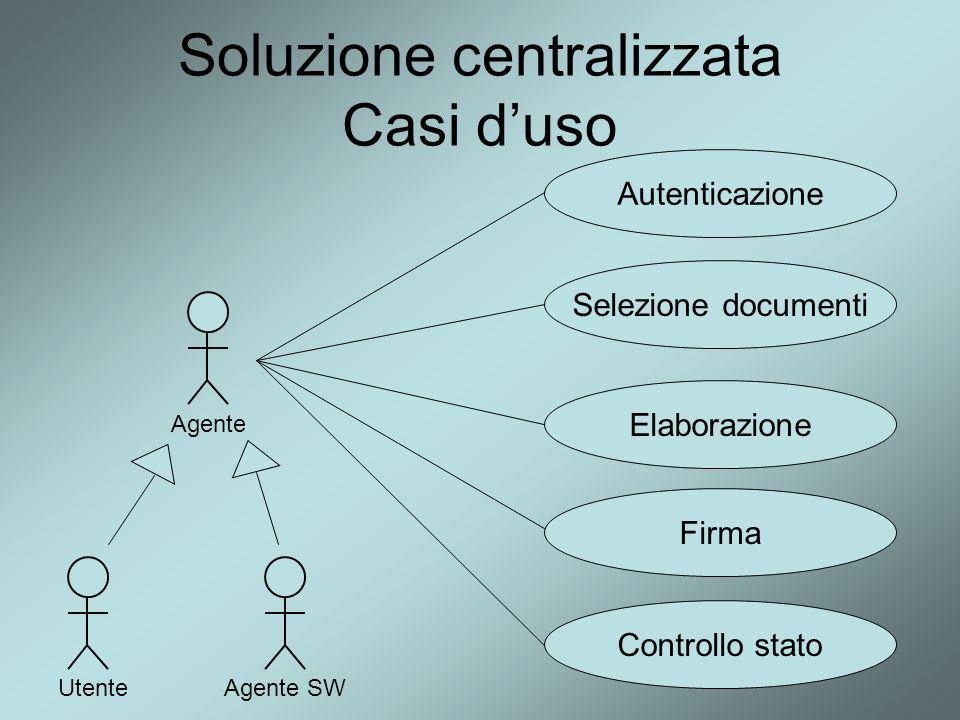 Soluzione centralizzata Casi d'uso