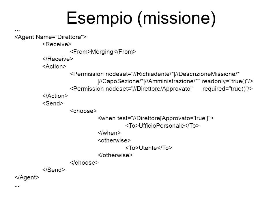 Esempio (missione) … <Agent Name= Direttore > <Receive>