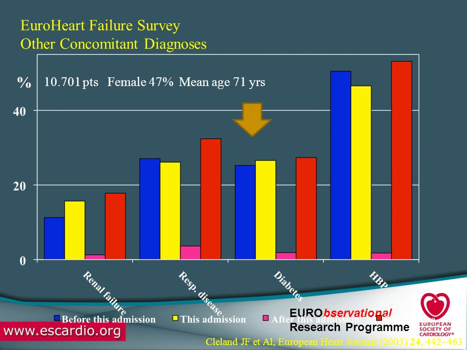 EuroHeart Failure Survey Other Concomitant Diagnoses