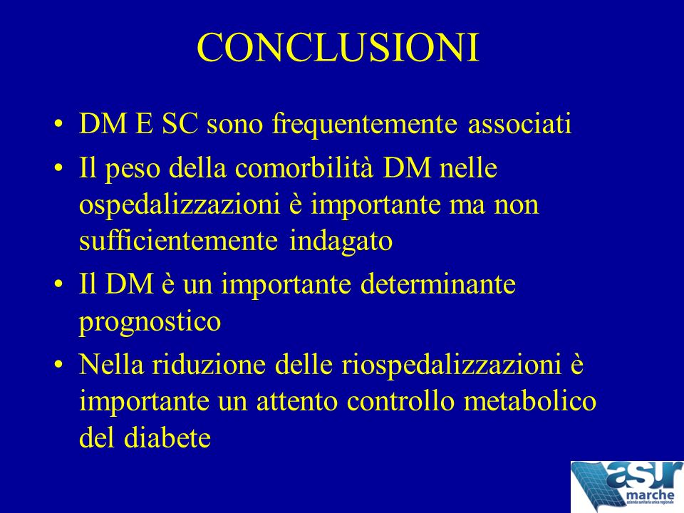 CONCLUSIONI DM E SC sono frequentemente associati