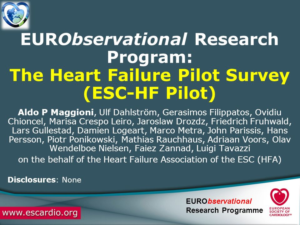 on the behalf of the Heart Failure Association of the ESC (HFA)