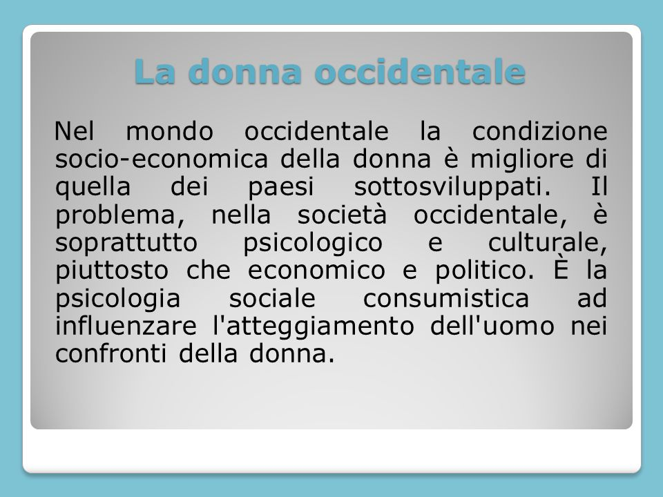 La donna occidentale
