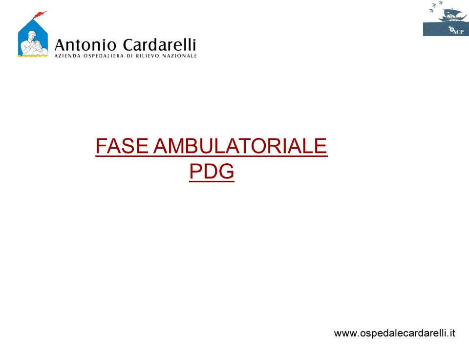 FASE AMBULATORIALE PDG