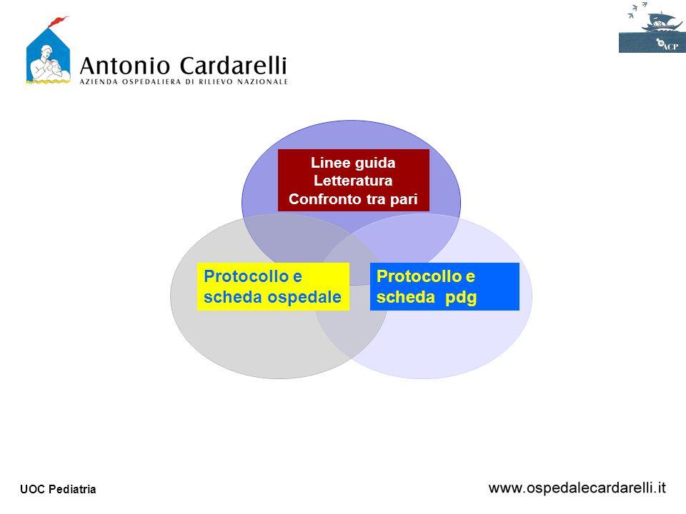 Protocollo e scheda ospedale Protocollo e scheda pdg Linee guida
