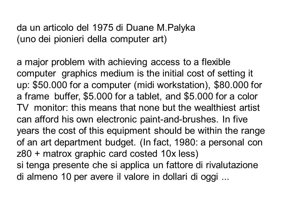 da un articolo del 1975 di Duane M.Palyka