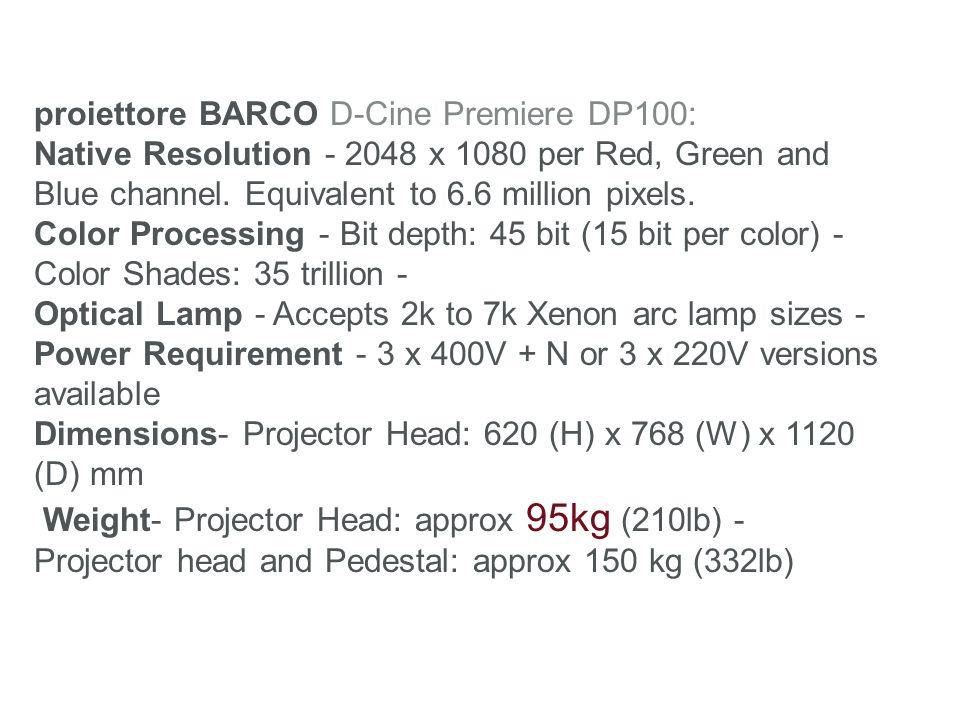 proiettore BARCO D-Cine Premiere DP100: