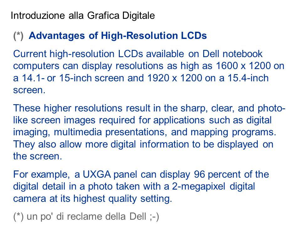 Introduzione alla Grafica Digitale