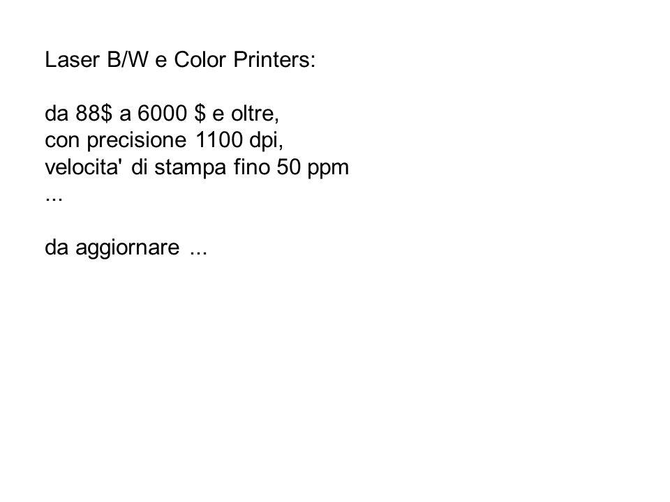 Laser B/W e Color Printers: