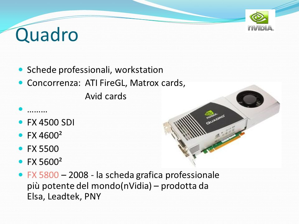 Quadro Schede professionali, workstation