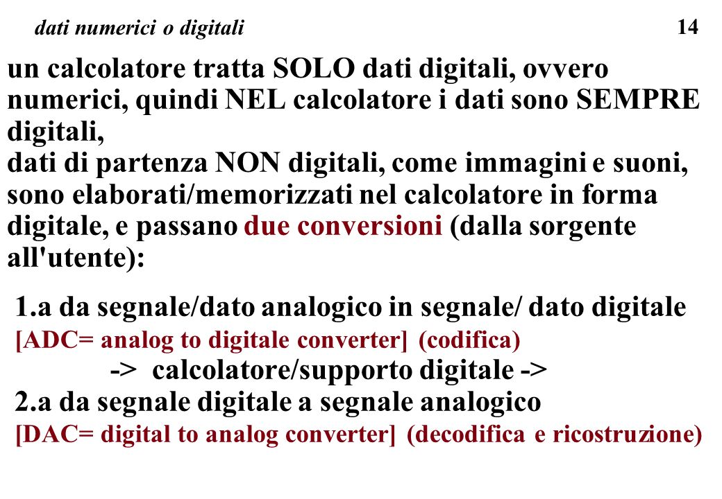 dati numerici o digitali