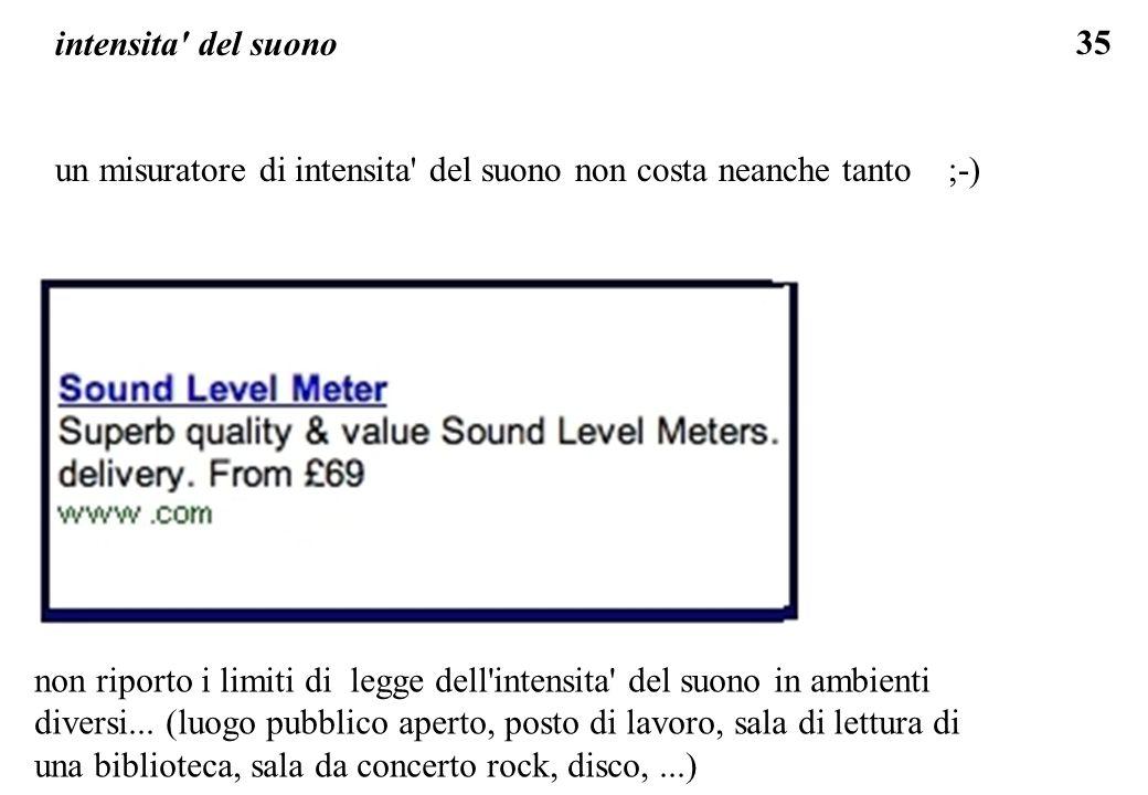 intensita del suono un misuratore di intensita del suono non costa neanche tanto ;-)