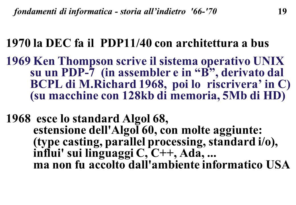 fondamenti di informatica - storia all'indietro 66- 70