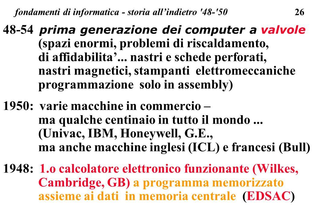 fondamenti di informatica - storia all'indietro 48- 50