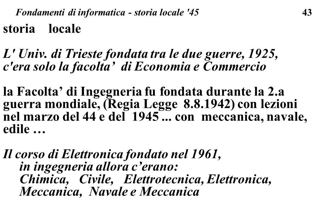 Fondamenti di informatica - storia locale 45