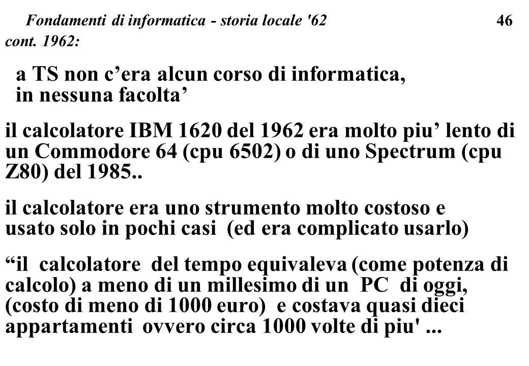 Fondamenti di informatica - storia locale 62