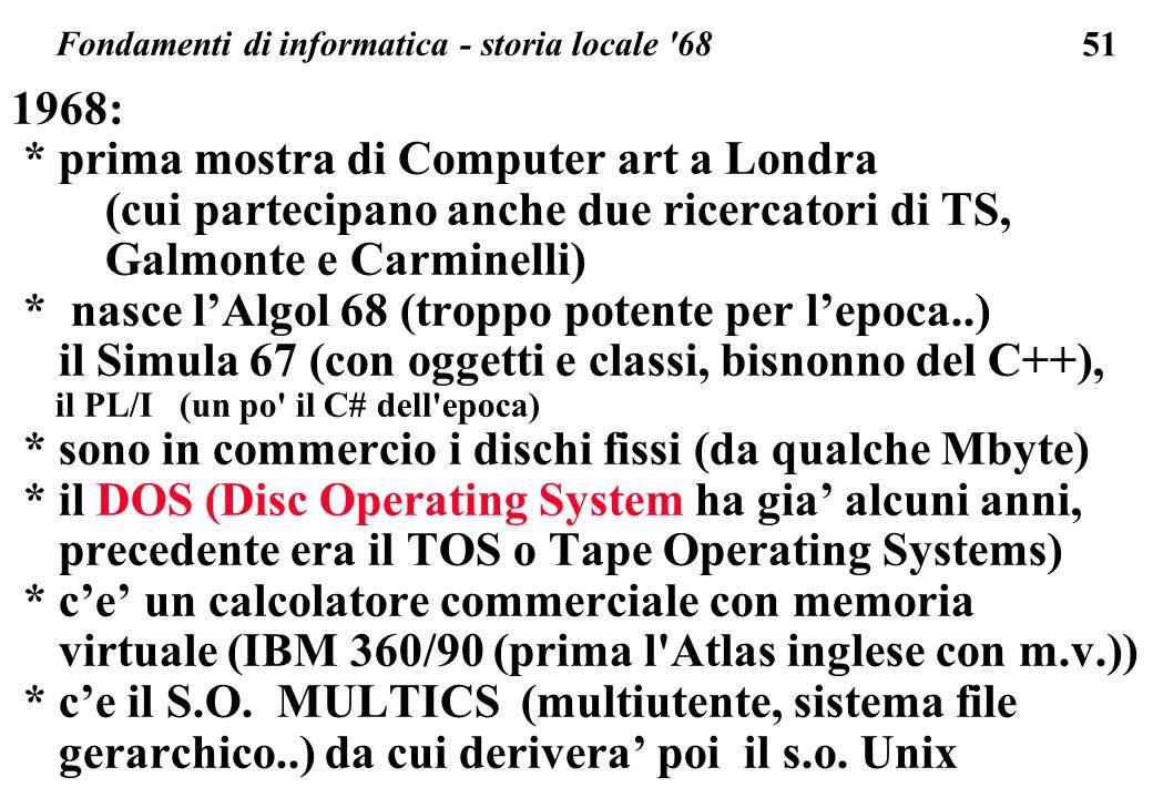 Fondamenti di informatica - storia locale 68