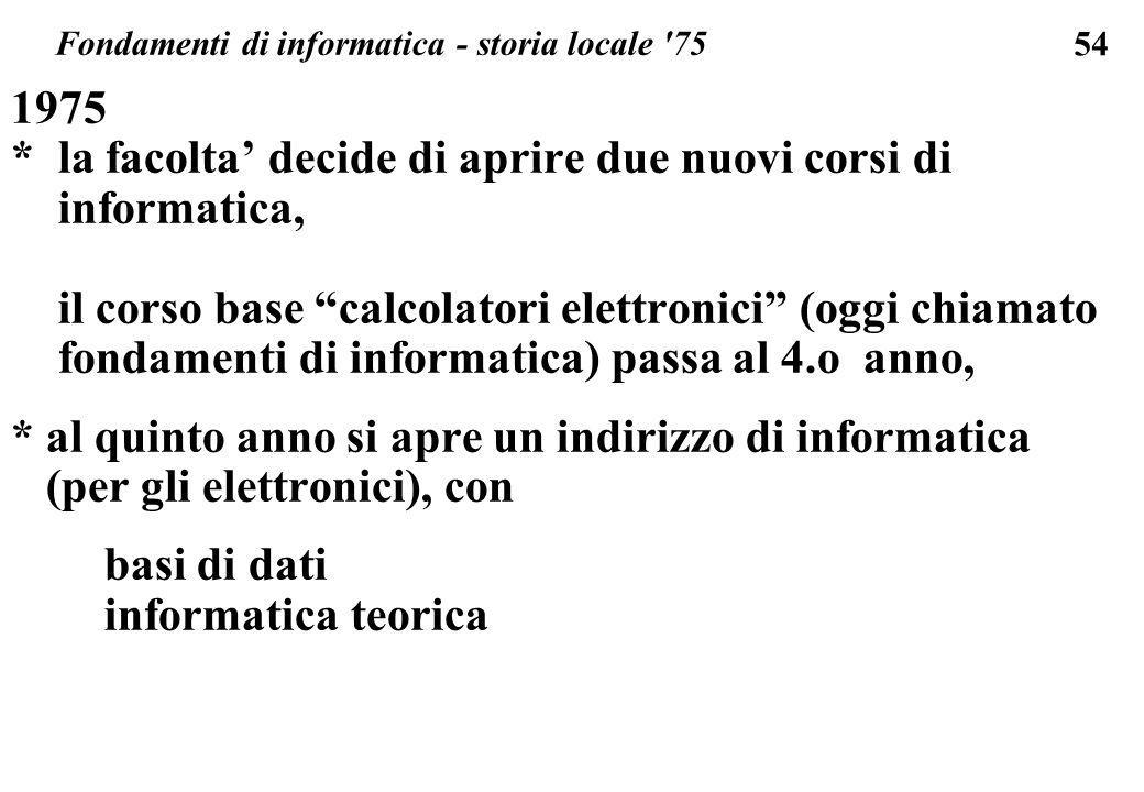 Fondamenti di informatica - storia locale 75