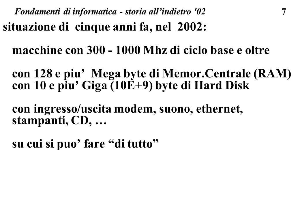 Fondamenti di informatica - storia all'indietro 02