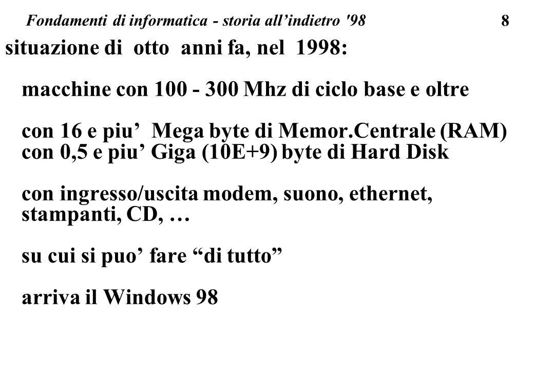 Fondamenti di informatica - storia all'indietro 98