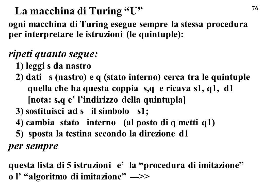 La macchina di Turing U