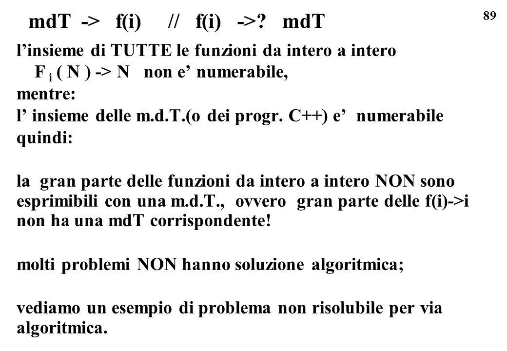 mdT -> f(i) // f(i) -> mdT