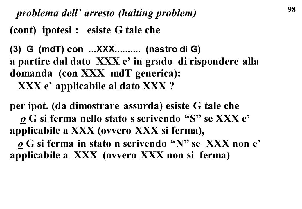 problema dell' arresto (halting problem)