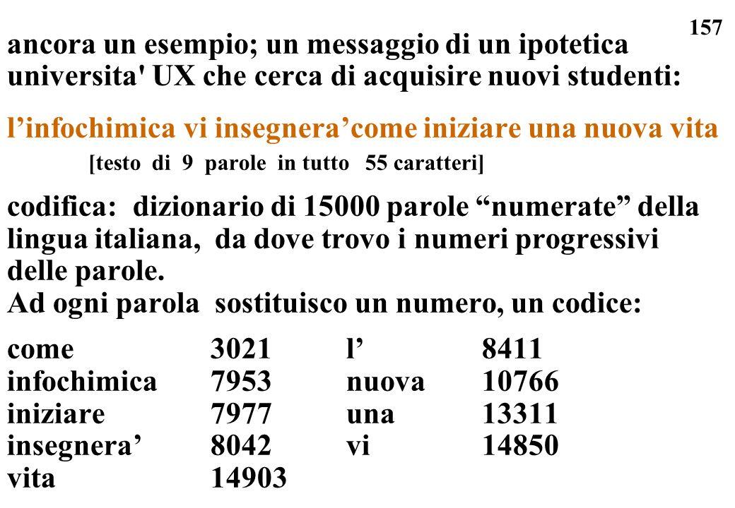ancora un esempio; un messaggio di un ipotetica universita UX che cerca di acquisire nuovi studenti:
