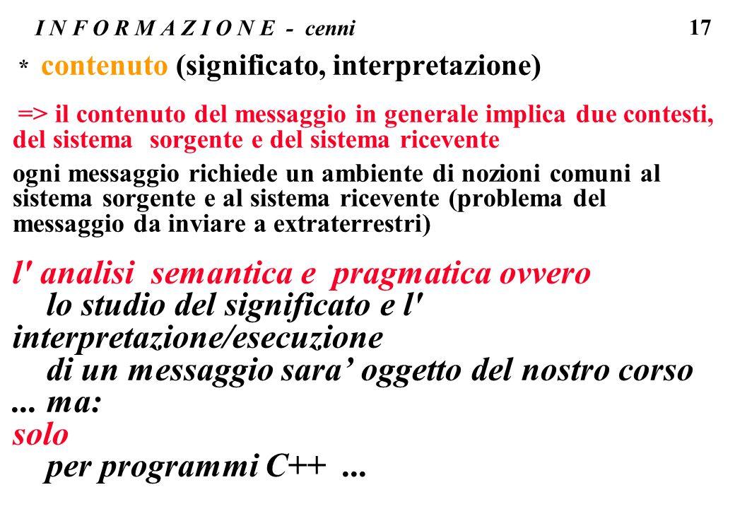 l analisi semantica e pragmatica ovvero