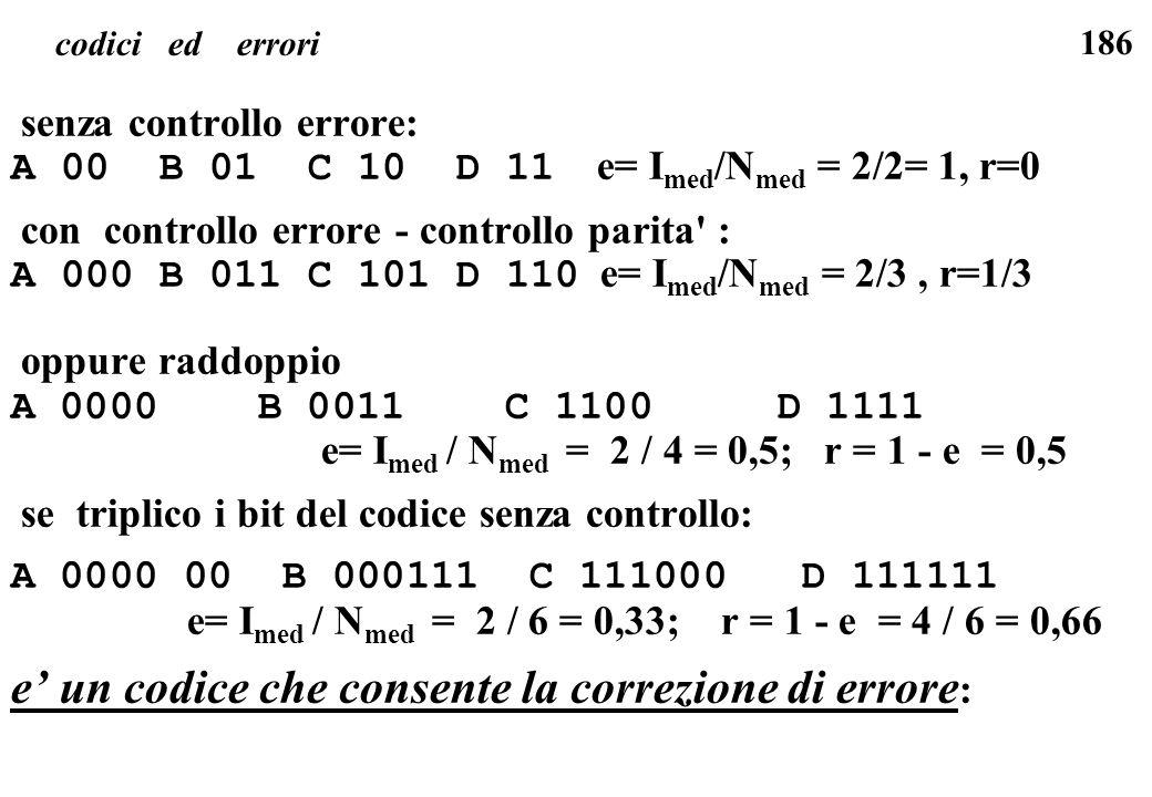 e' un codice che consente la correzione di errore: