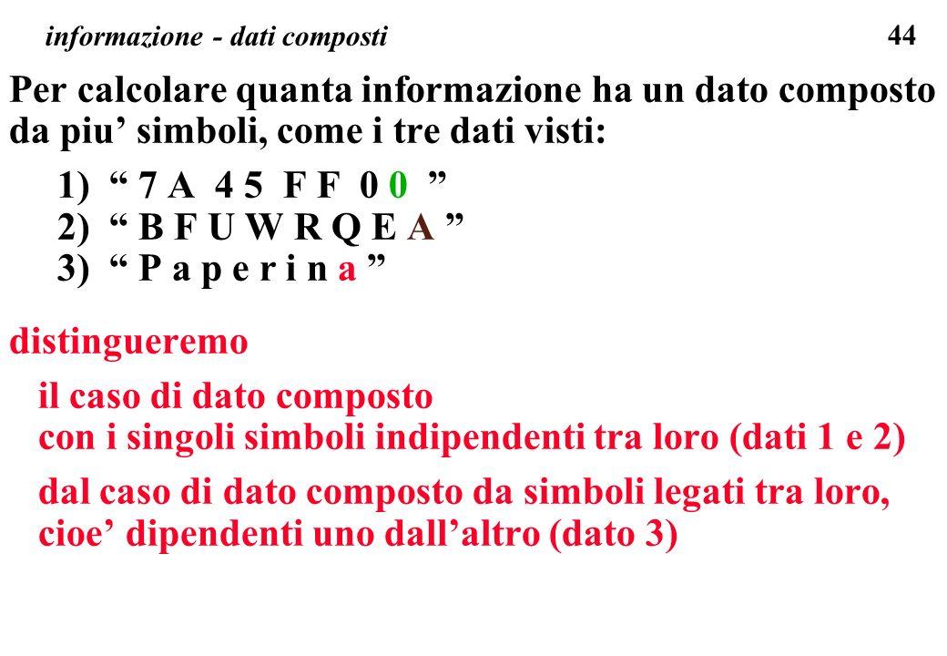 informazione - dati composti