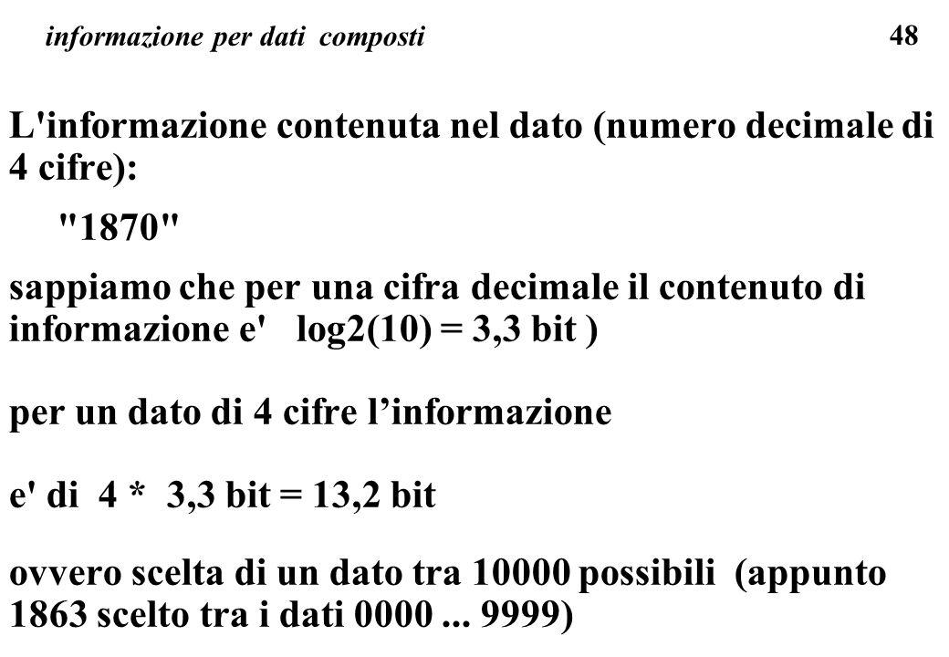 informazione per dati composti