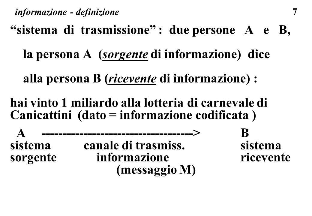 informazione - definizione