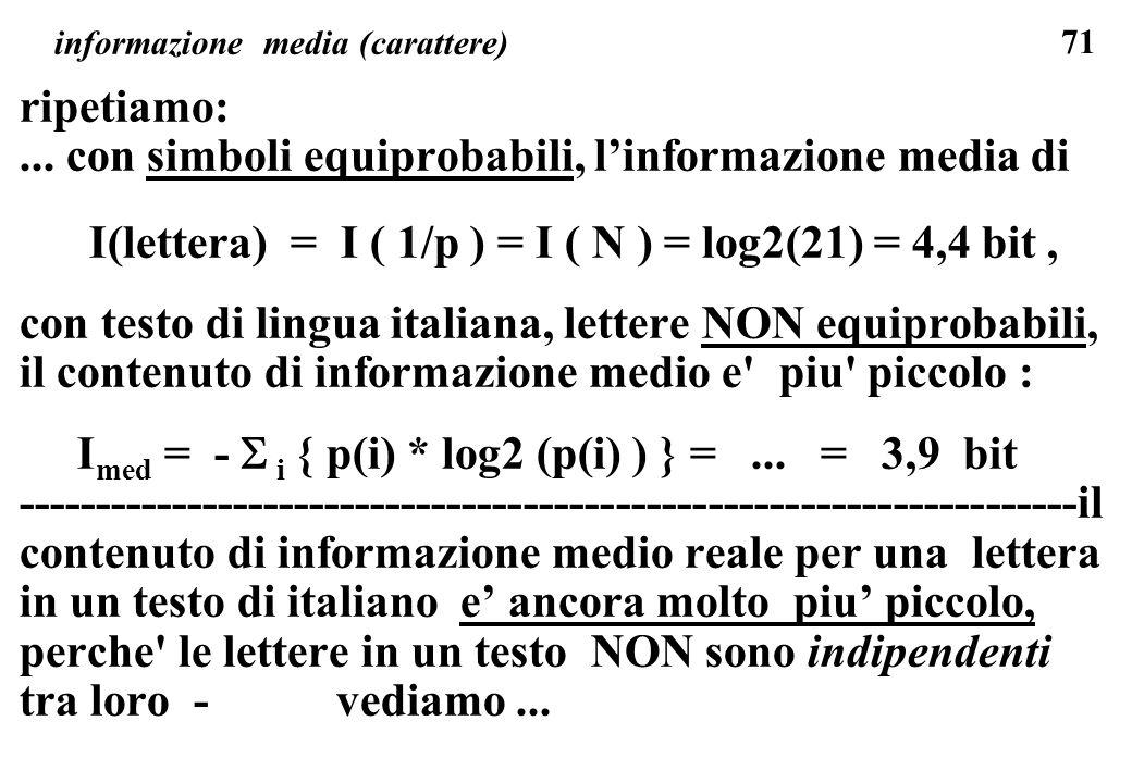 informazione media (carattere)