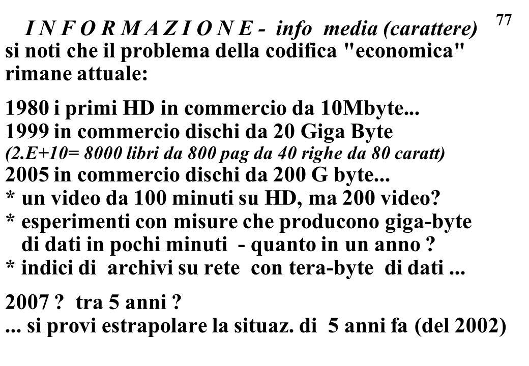 I N F O R M A Z I O N E - info media (carattere)
