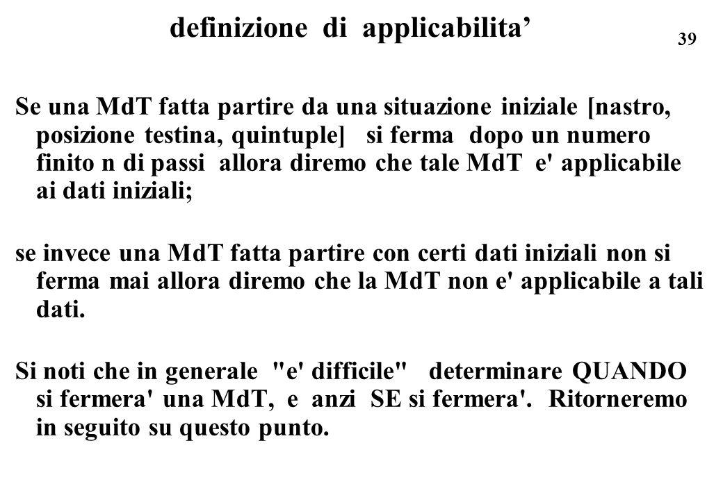 definizione di applicabilita'