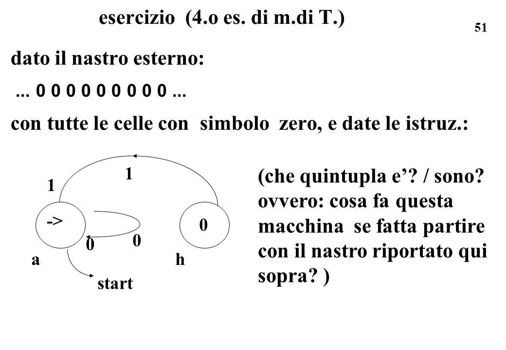 esercizio (4.o es. di m.di T.)