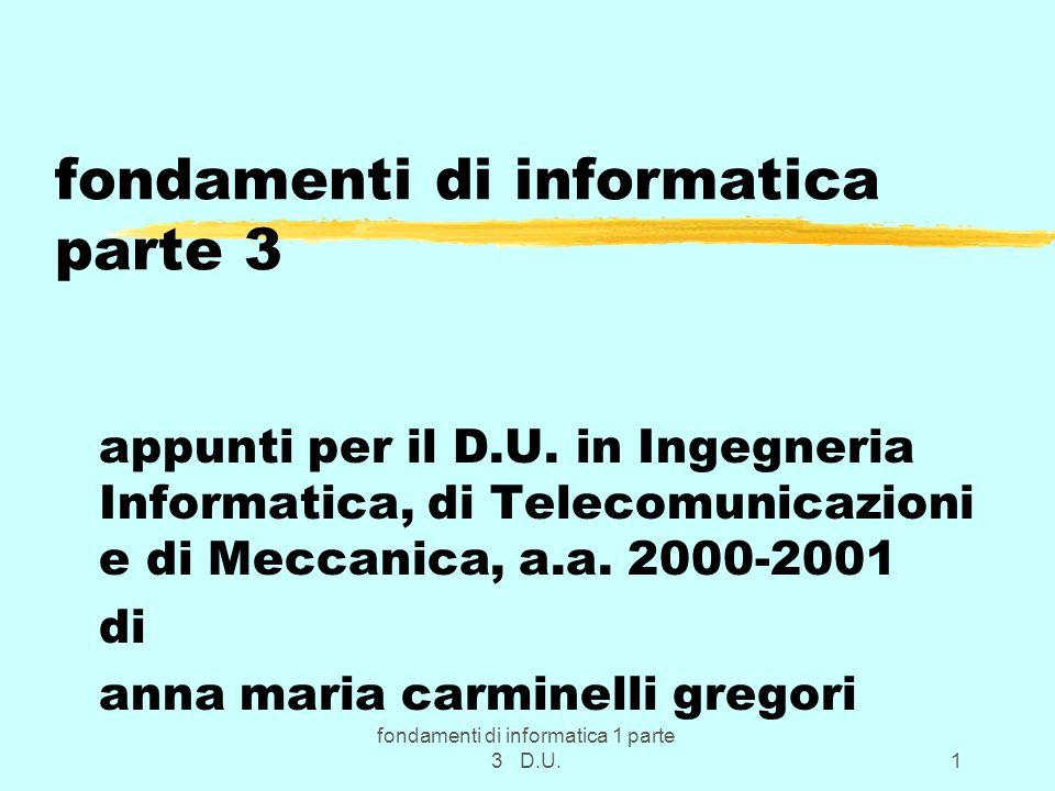 fondamenti di informatica parte 3