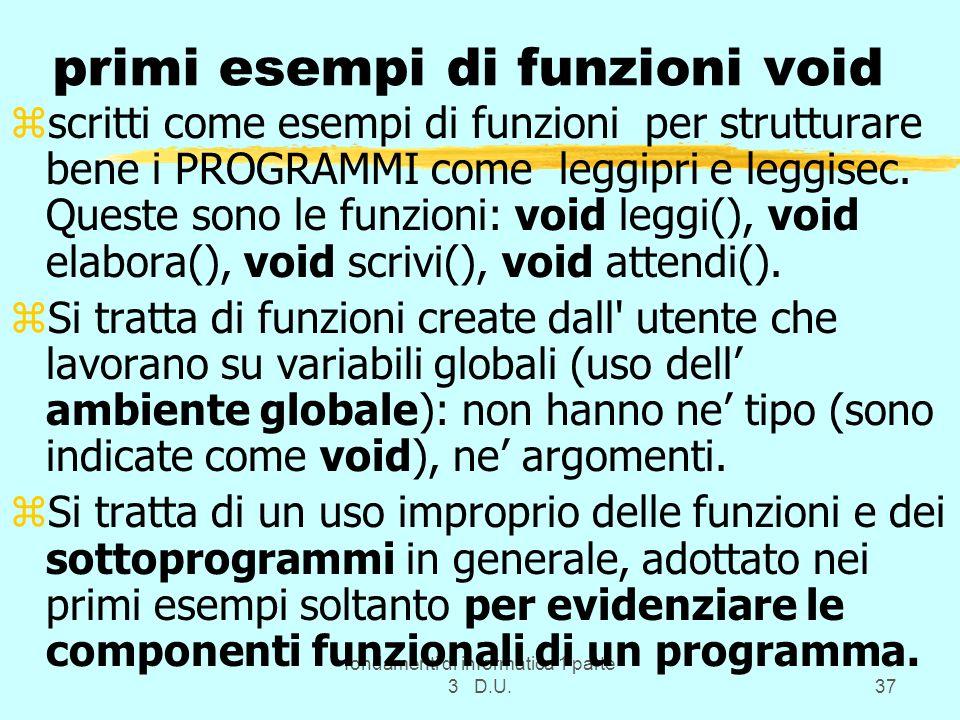 primi esempi di funzioni void