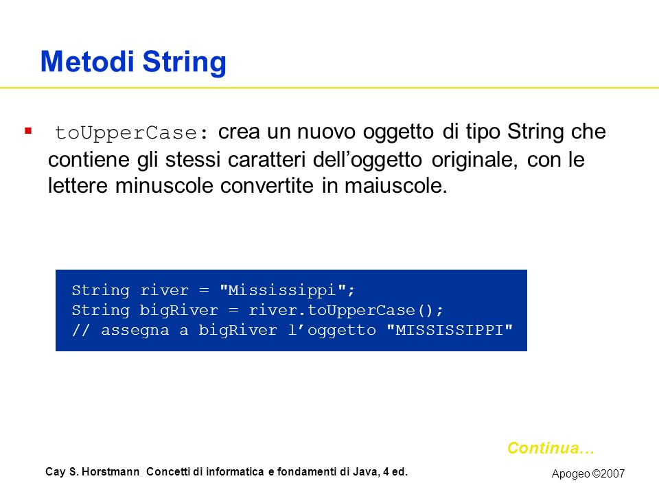 Metodi String
