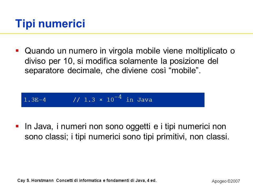 Tipi numerici