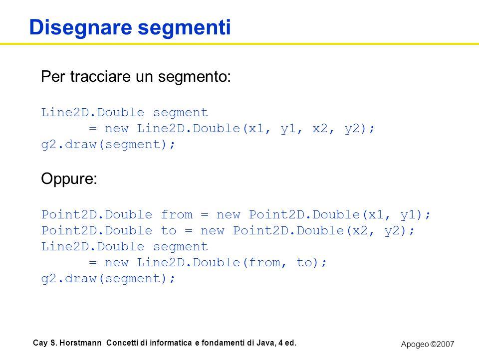 Disegnare segmenti Per tracciare un segmento: Oppure: