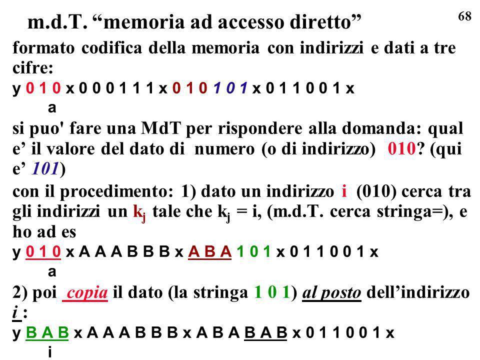 m.d.T. memoria ad accesso diretto