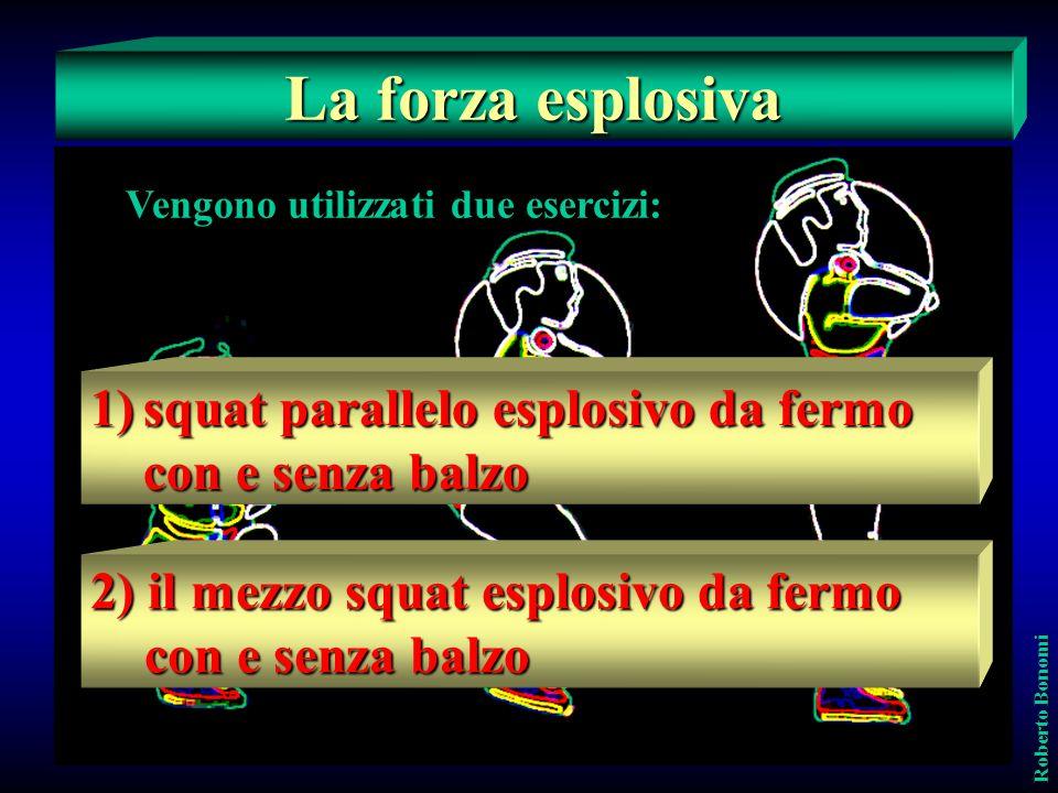 La forza esplosivaE' quella espressione che, dalla immobilità e con le gambe più o meno piegate, determina una loro potente estensione.