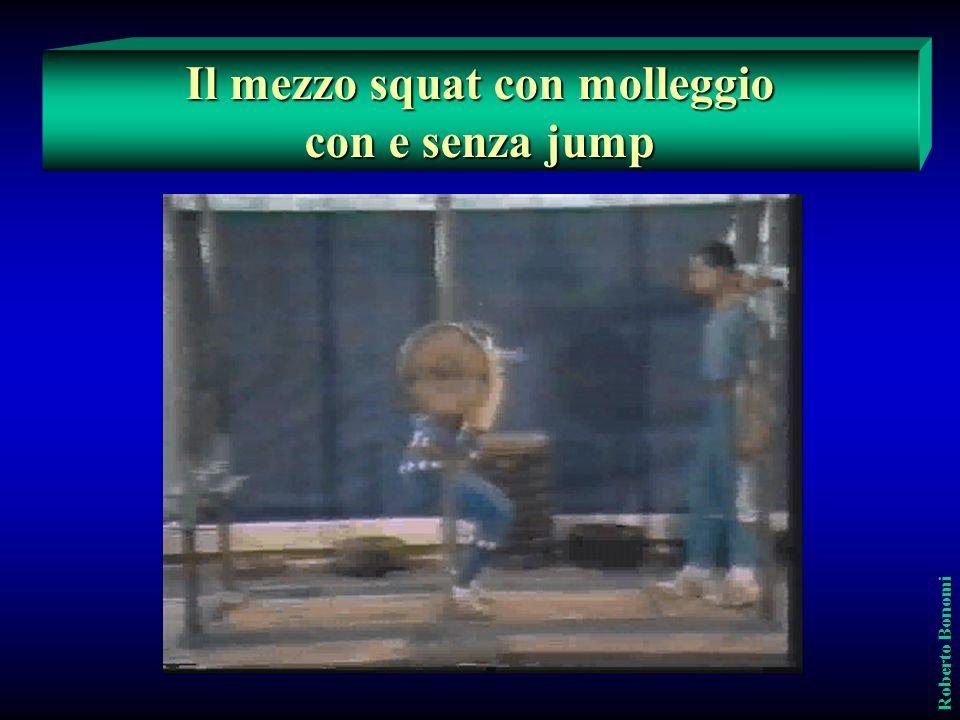 Il mezzo squat con molleggio con e senza jump